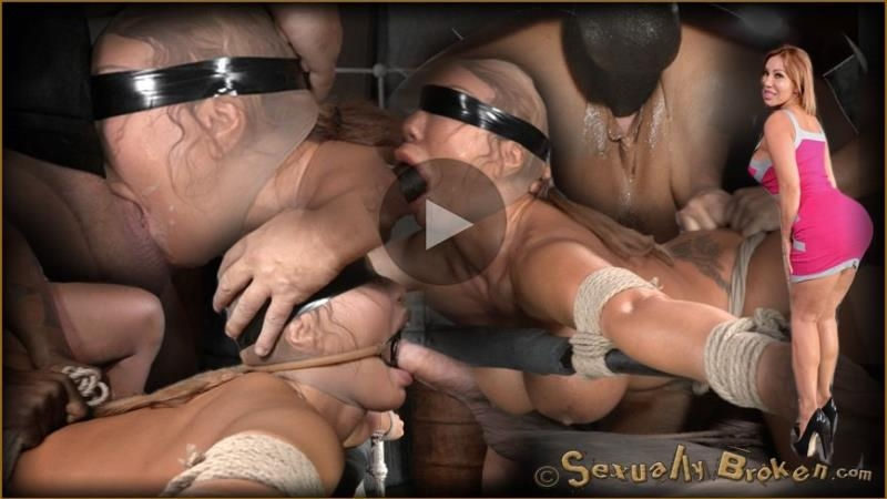 Ava Devine, Matt Williams, Jack Hammer - Giant titted MILF Ava Devine blindfolded bound and fucked roughly by 2 cocks, filled and creampied! (2014 | HD) (665 MB)
