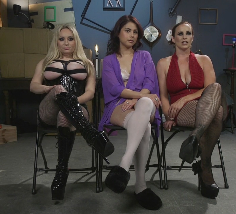 Aiden Starr, Bella Rossi, Penelope Reed - Dominating Dreams: First Time Kink Model is Tag-Teamed by Horny Lesbos (2017 | HD) (2.16 GB)