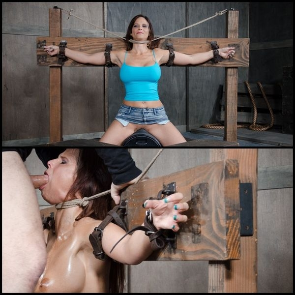 Syren De Mer experiences her most brutal sex scene ever. Neck bound, face fucked on a sybian (2020 | HD) (551 MB)