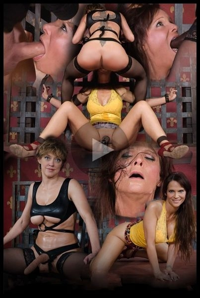 Hot Cougar is bound, face fucked and made to cum over and over. Brutal deep throat, massive orgasms! (2016 | HD) (1.00 GB)