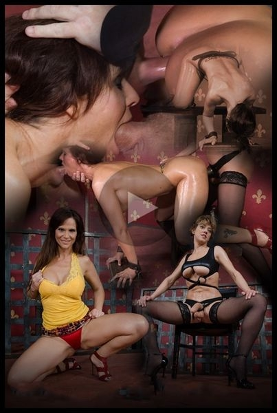 Couger Syren De Mer is destroyed by cock, epic face fucking, rough sex and lesbian strap on (2016 | HD) (840 MB)