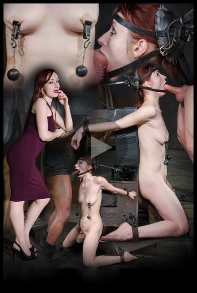 Violet Monroe - does drooling deepthroat on two cocks while firmly bound in the blowjob machine (2020 | HD) (847 MB)